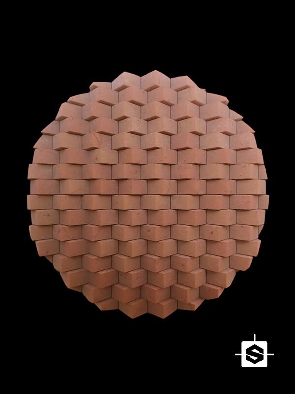wall terracotta bricks clay