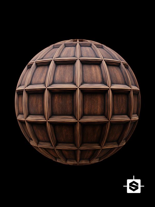 wood ceiling coffers