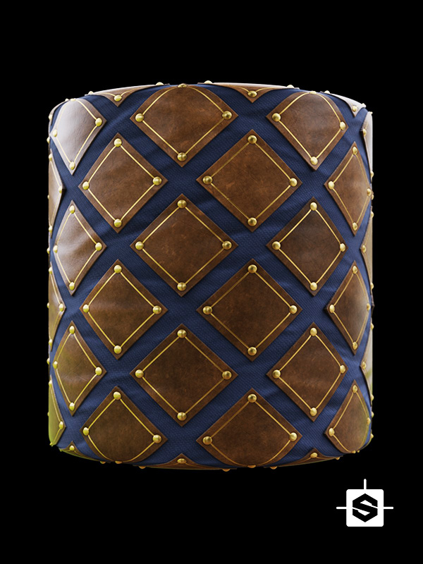 leather diamond patches fabric textile cloth clothes medieval armor army knight
