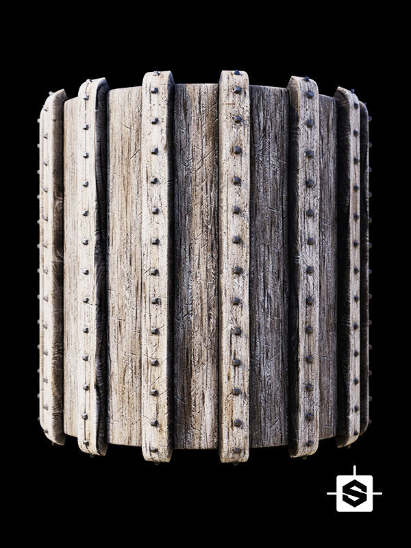 wood old aged metal