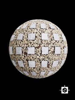 stylized ground rocks stones floor