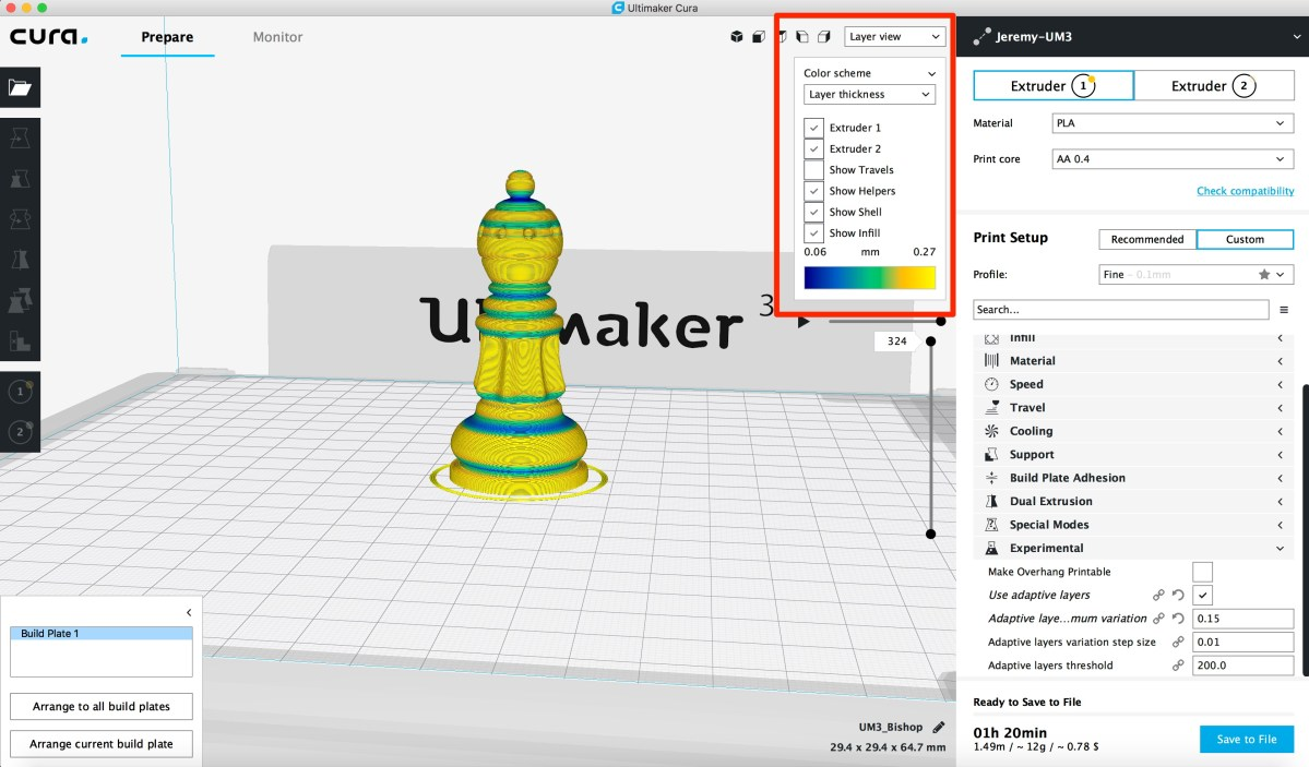 Ultimaker Cura Adaptive Layers Tutorial