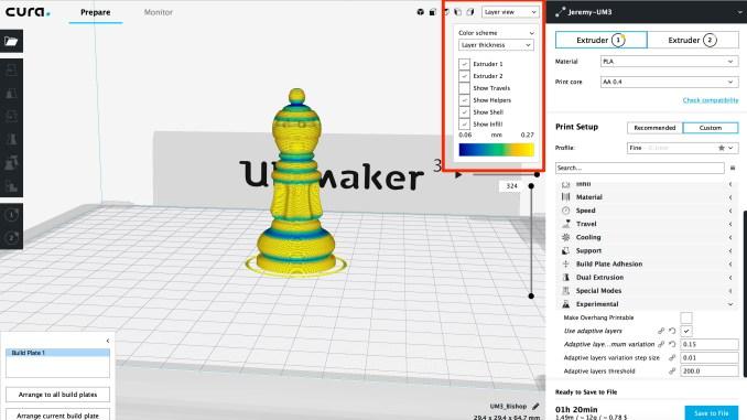 Ultimaker Cura Adaptive Layer
