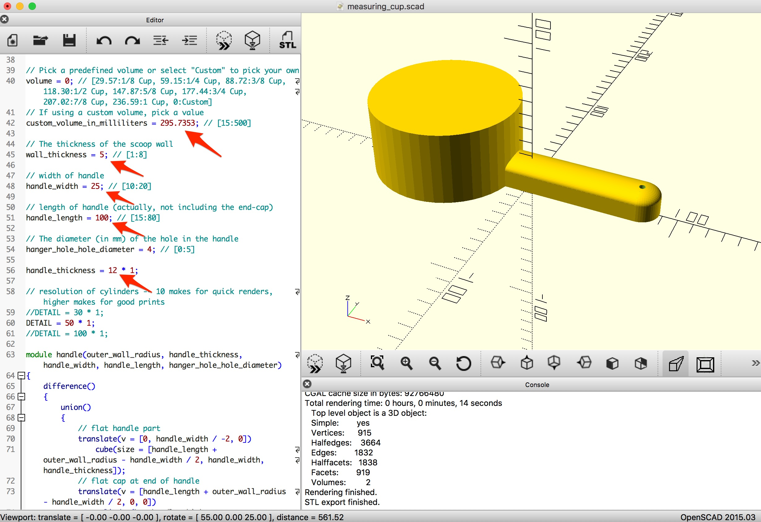 3D Printed Custom Measuring Cup - 3D Universe