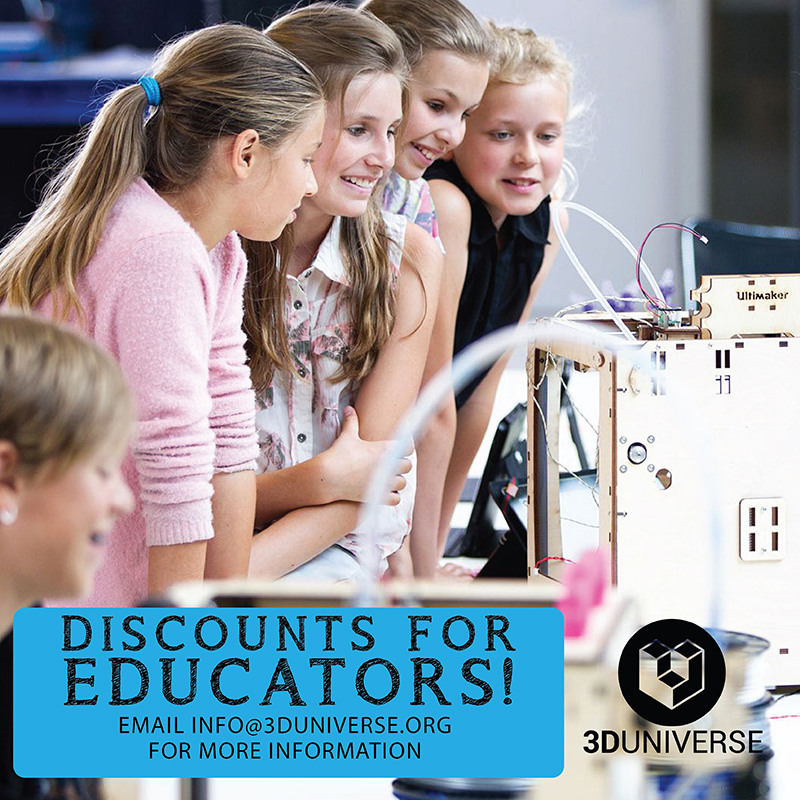3D printer resources for education with students using Ultimaker 3D printers
