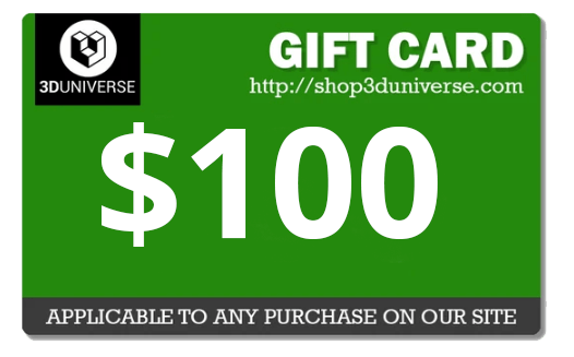 A $100 3D Universe gift card