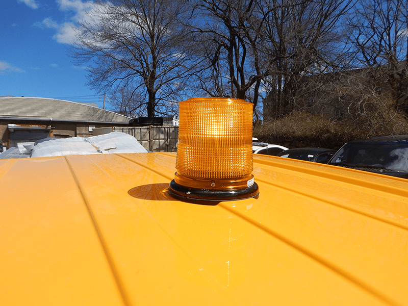 A 3d printed mount for a siren light on an emergency vehicle
