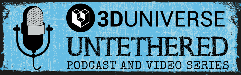 3D Universe Untethered logo and banner