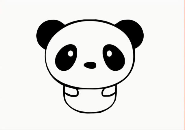 cute panda drawing