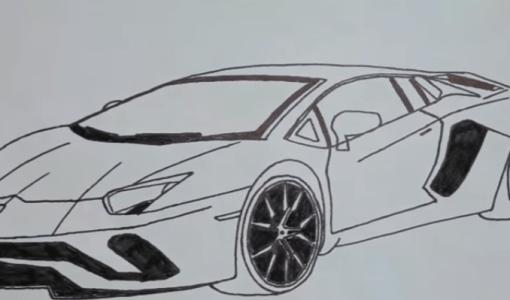 How to draw lamborghini