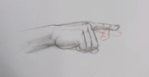 How to draw finger