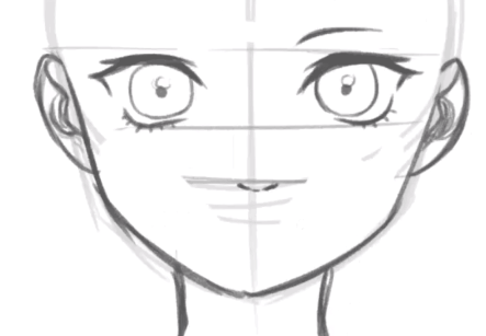How to draw anime face, How to draw anime girl, Anime Girl Face Drawing