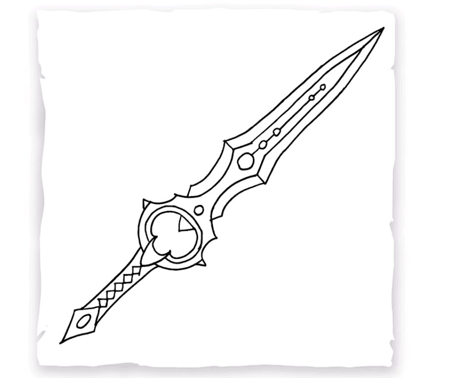 how to draw a blade