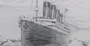 titanic drawing