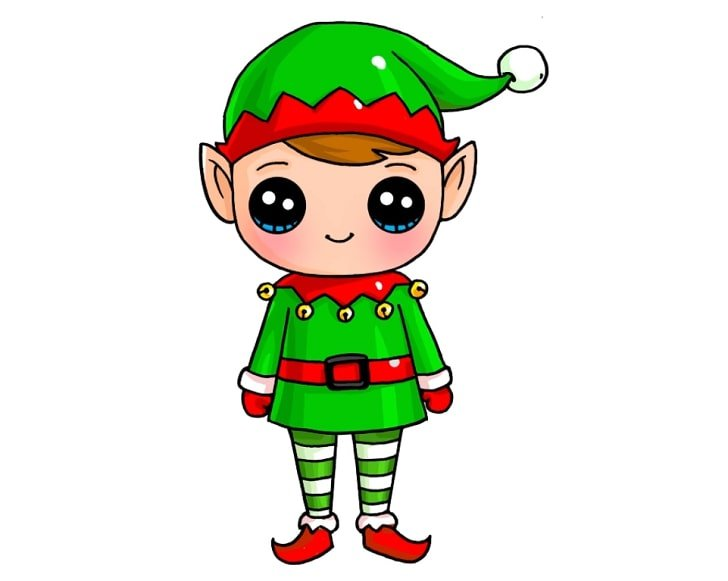 elf drawing