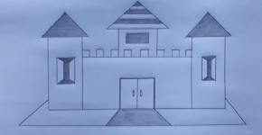 house drawing for kids