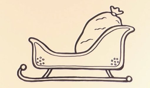 how to draw a sleigh