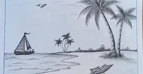 beach drawing
