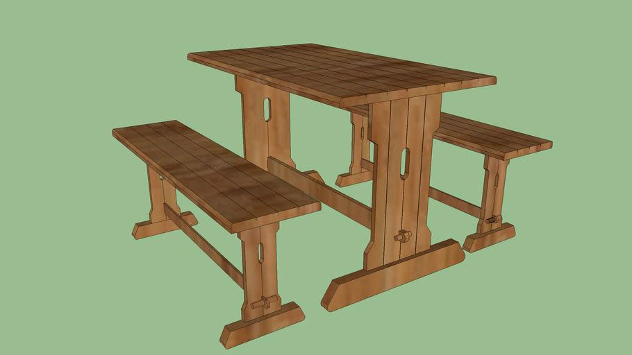 table et banc cuisine 3d warehouse