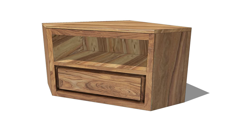 stockholm meuble tv d angle 1 tiroir en