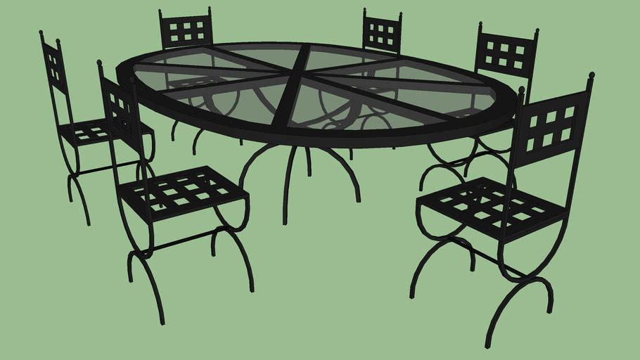 ensemble chaise table d exterieur en