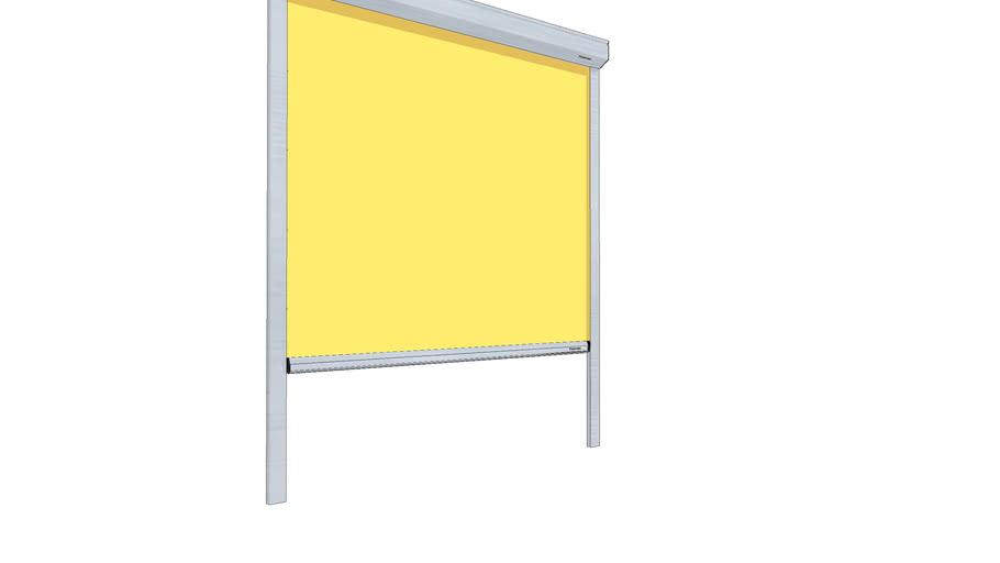 Tenda orizzontale motorizzata orizzonti con traverse in alluminio dimensionati per supportare teli di grandi dimensioni. Tenda A Rullo Con Guide Laterali 3d Warehouse