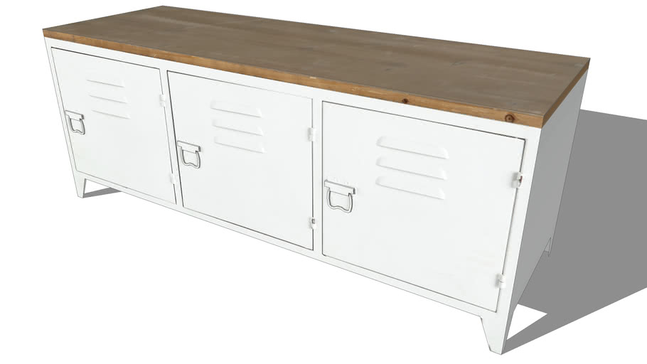 bruce meuble tv en metal blanc l 118 cm maisons du monde ref 155590 prix 129 90 3d warehouse