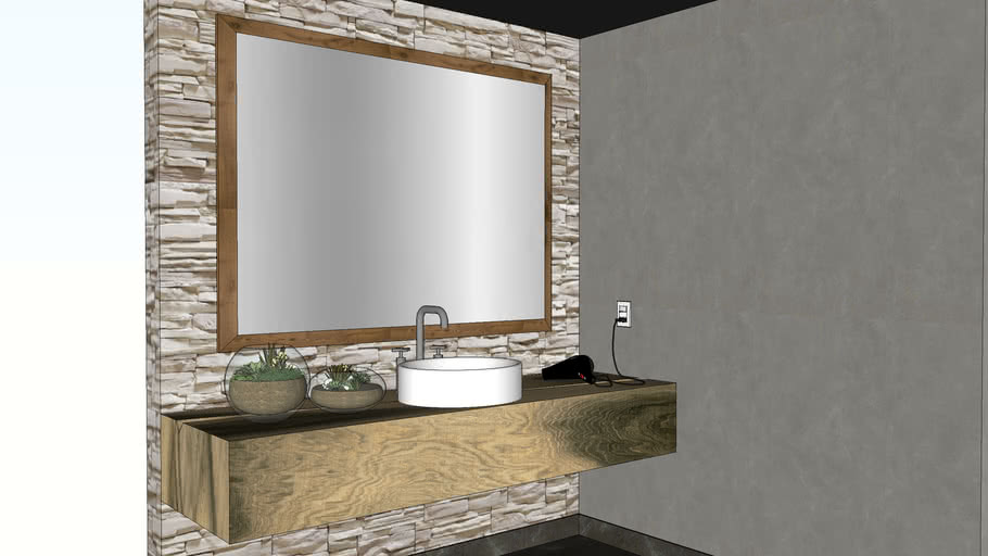 rustic bathroom sink table 3d warehouse