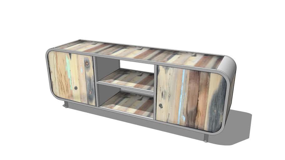 meuble tv bois flotte 3d warehouse