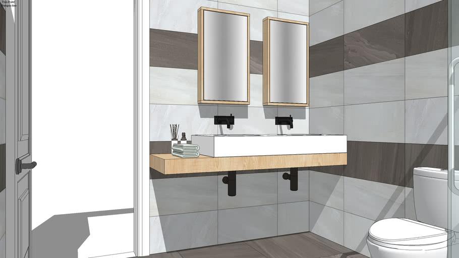 modern bathroom   3D Warehouse on Model Bathroom  id=21484