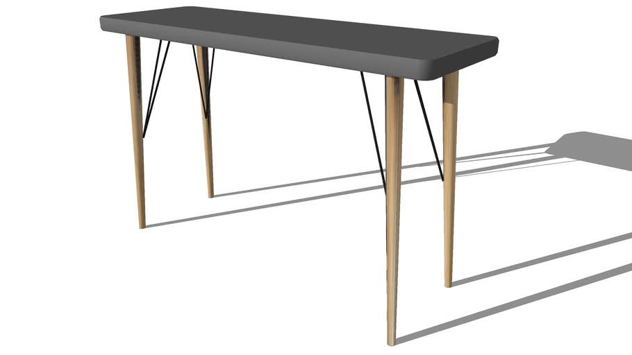 cleveland table console en bois grise