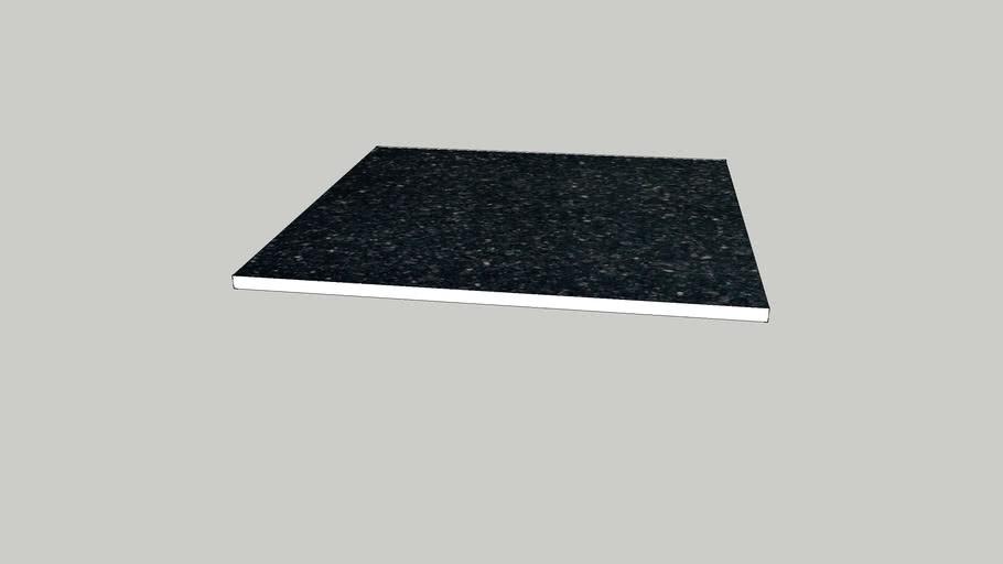 12 black galaxy granite floor tile