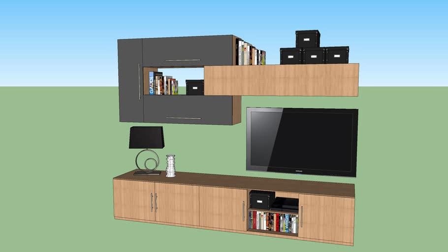 meuble mural tv design candice atylia