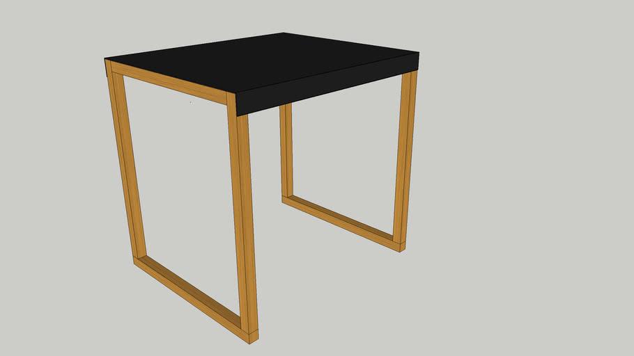 modern oak side table 3d warehouse