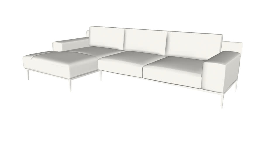 elizabeth left sectional sofa in soft
