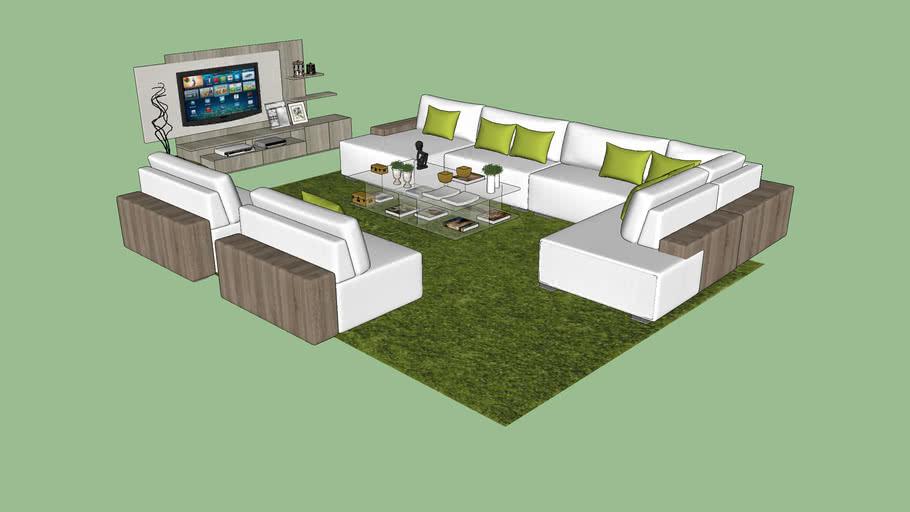 living room salon complet 3d warehouse