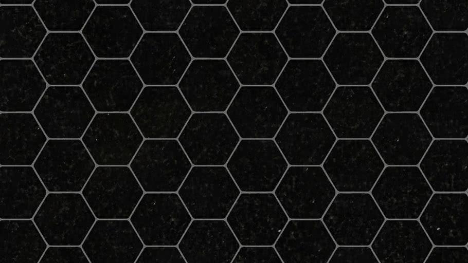 black hexagon tile 3d warehouse