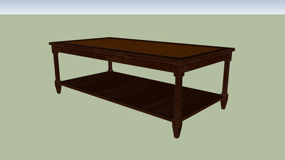 traditional coffee table 3d warehouse
