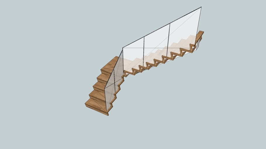 Read through this sweethome3d review and check out other reviews of free floor plan. Staircase With Z Risers 3d Warehouse