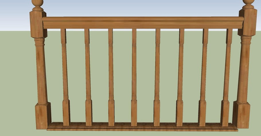Wooden Railing 3D Warehouse | Wood Balustrades And Handrails | Balcony Railing | Deck Railing Ideas | Railing Systems | Wrought Iron Balusters | Stair Railings