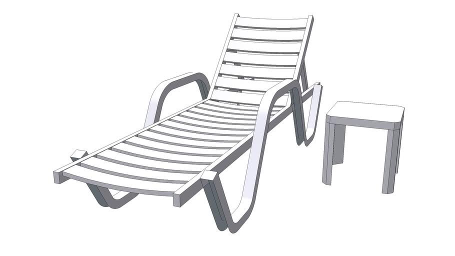 plastic lounge chair 3d warehouse