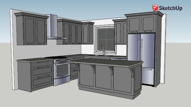 Simple Kitchen   3D Warehouse on Kitchen Model Design  id=70020