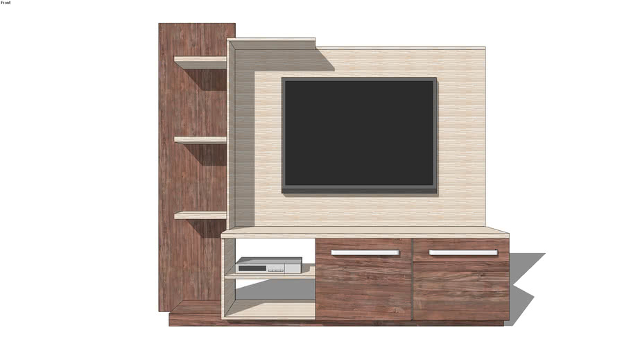 tv stand table 3d warehouse