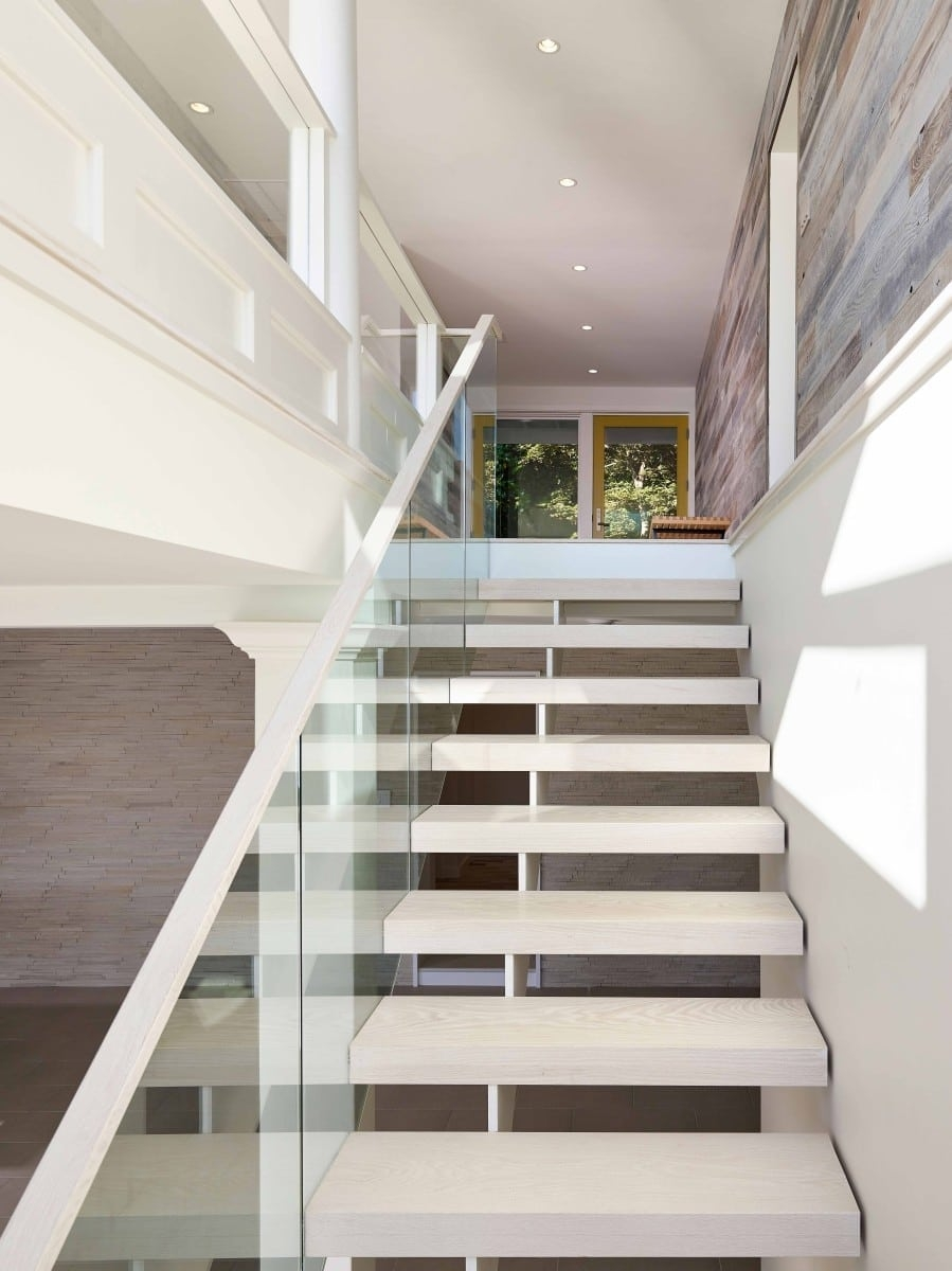 Floating Staircase Cost Design Ideas Owings Brothers Contracting   Design Your Own Staircase   Metal   Stairway   Painted   Handrail   Grand Entrance