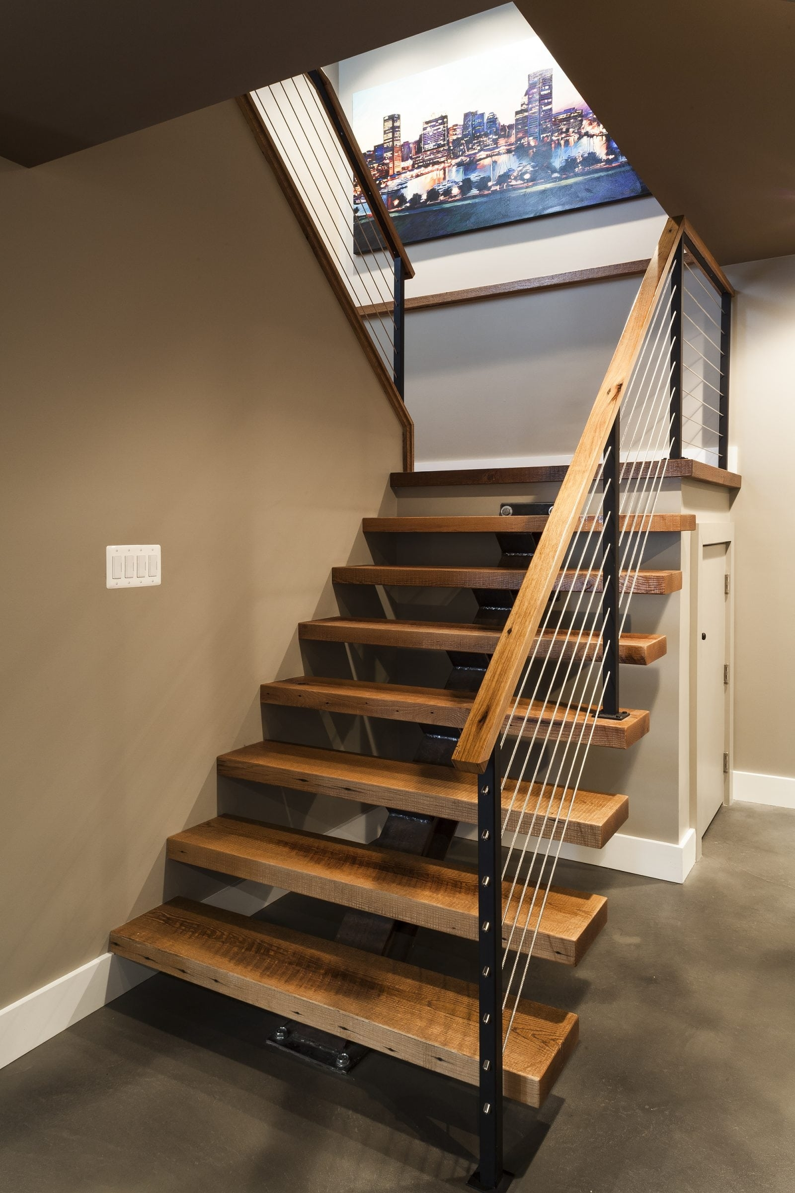 Cable Railing Vs Wood Railing Owings Brothers Contracting | New Stair Railing Cost | Staircase Ideas | Glass Railing | Staircase Design | Stair Parts | Wooden Stairs