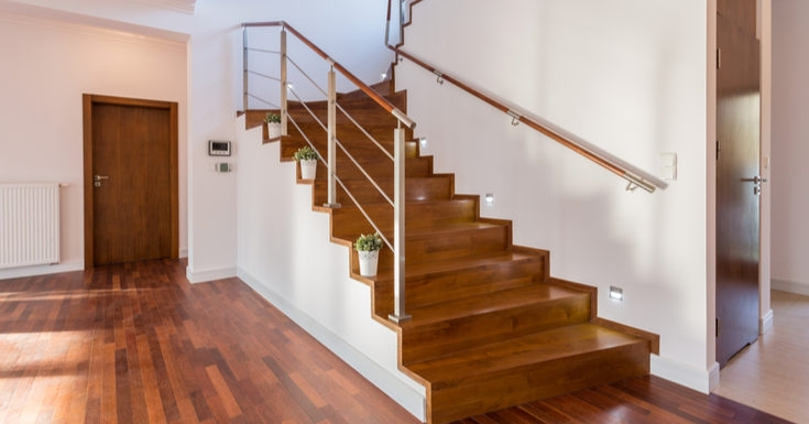 The 10 Best Stair Railings You Can Order Online Rethority Real | Poplar Stair Treads Home Depot | Newel Cap | 000 0000L | Quarter Turn | Baluster | Rosette