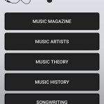 1inMusic Mobile App first screen screenshot