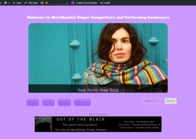 World(wide) Singer-Songwriters website