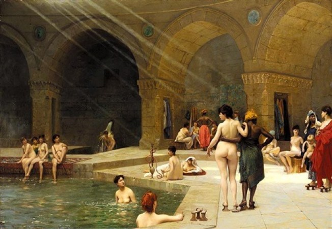 HISTORY OF THE TURKISH BATH. A PICTURE OF OLD OTTOMAN BATHS IN TURKEY