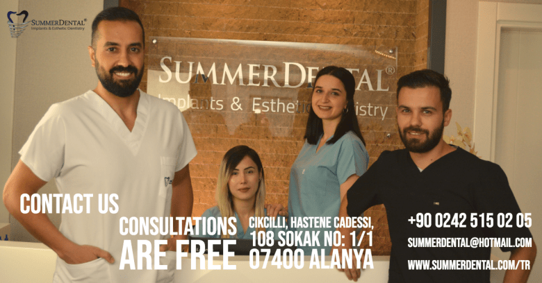 DENTISTS IN ALANYA : OUR TOP PICK IS SUMMER DENTAL ALANYA. HERE ARE THEIR CONTACT DETAILS AND A LINK TO THEIR FEATURE PAGE ON WE LOVE ALANYA WEBSITE